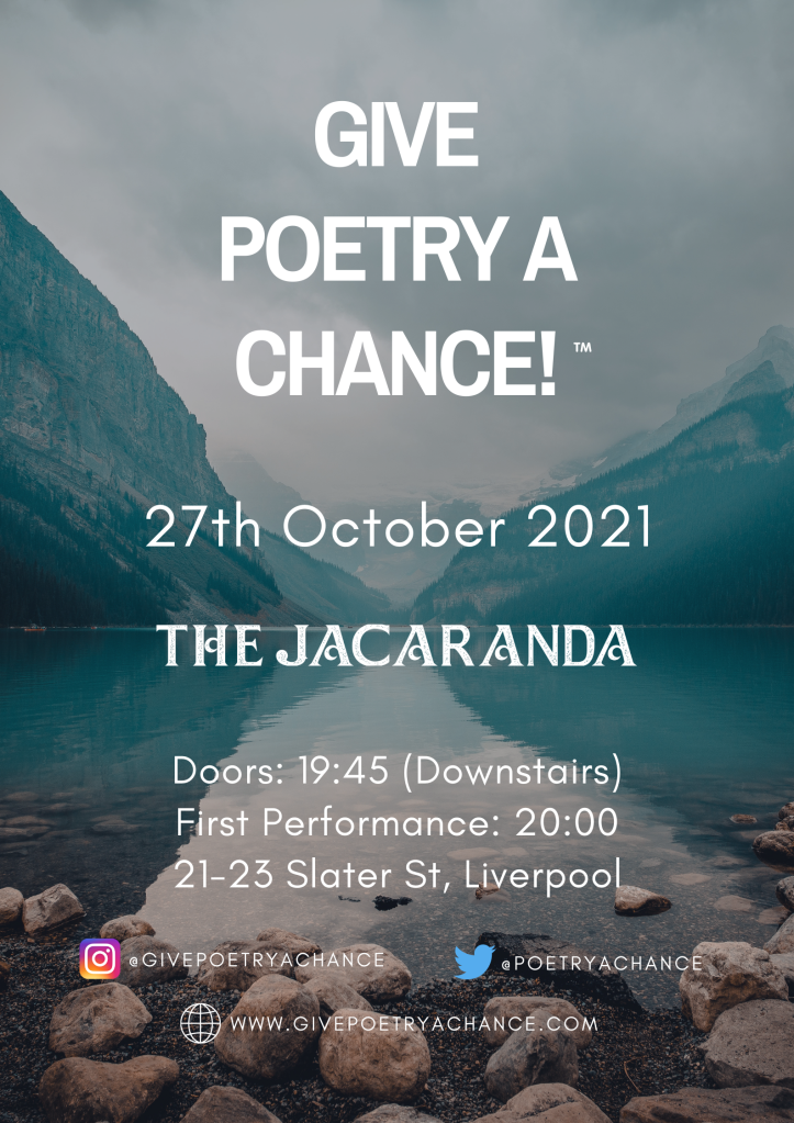 Give Poetry A Chance - October 2021